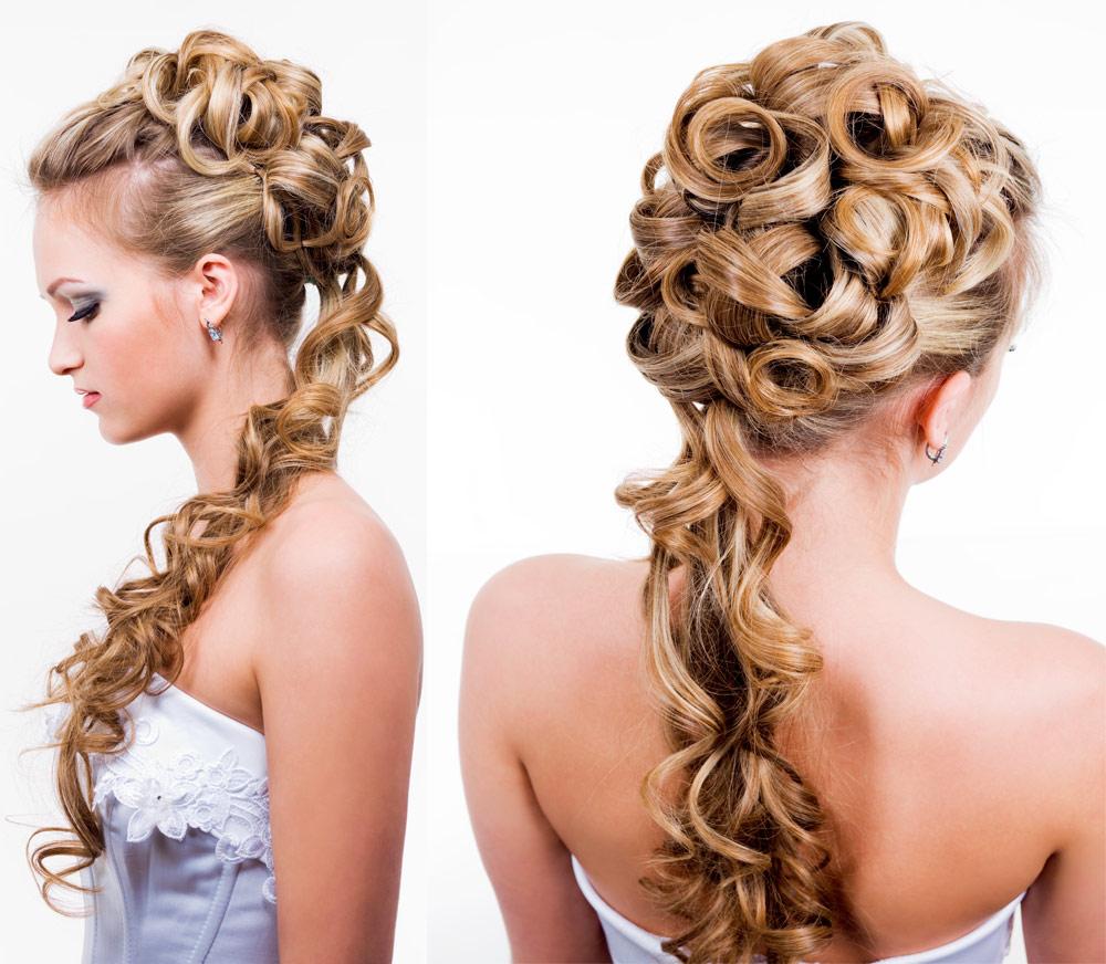 Acconciatura sposa capelli lunghi raccolti